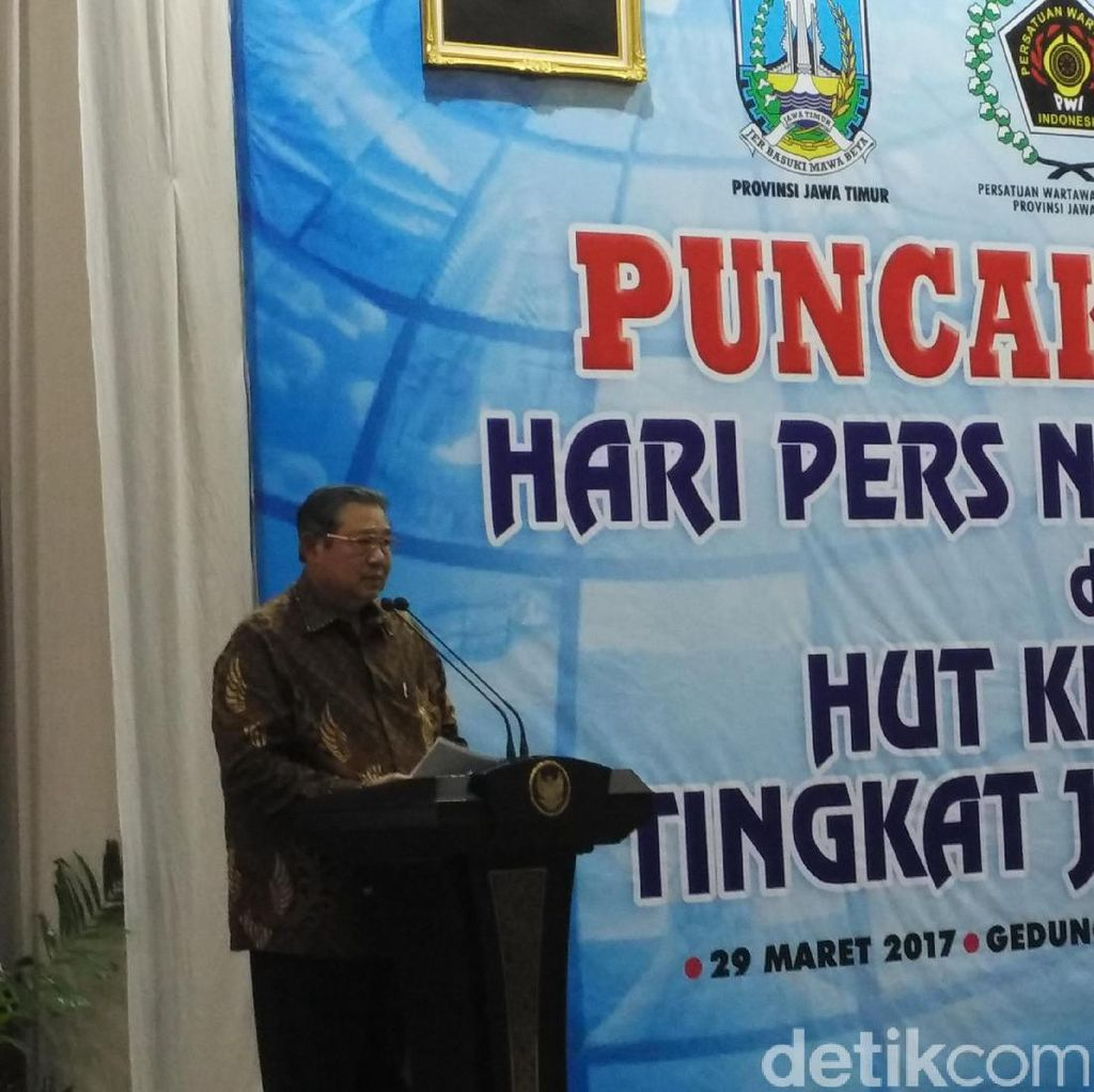 SBY Dapat Gelar Anugerah Prapanca Agung dari PWI Jawa Timur