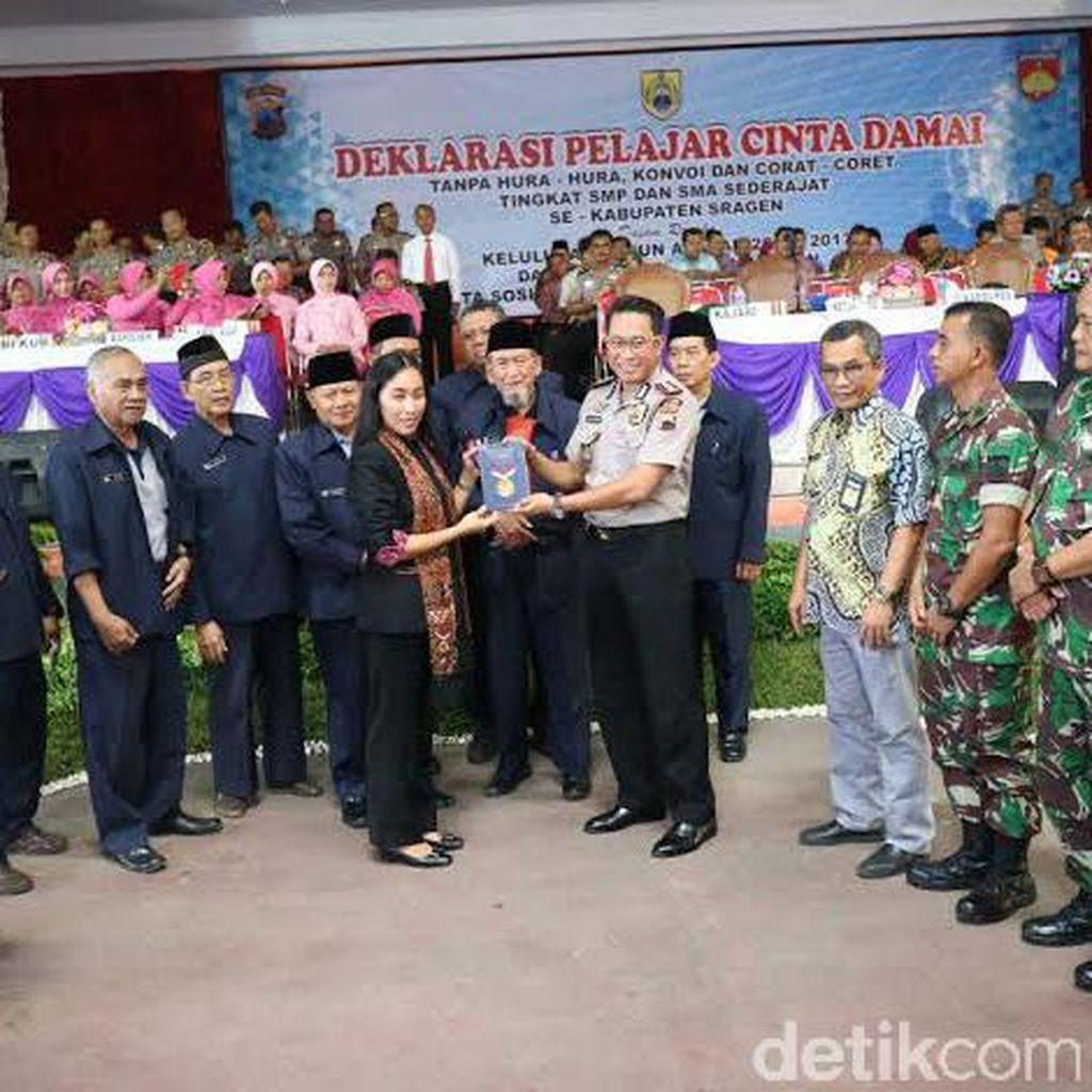 30 Ribu Siswa Sragen Deklarasi Lulus Tanpa Konvoi dan Corat-coret