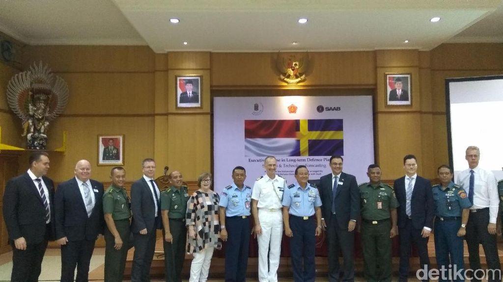 TNI Teken Kerja Sama dengan Kampus dan Industri Alutsista Swedia