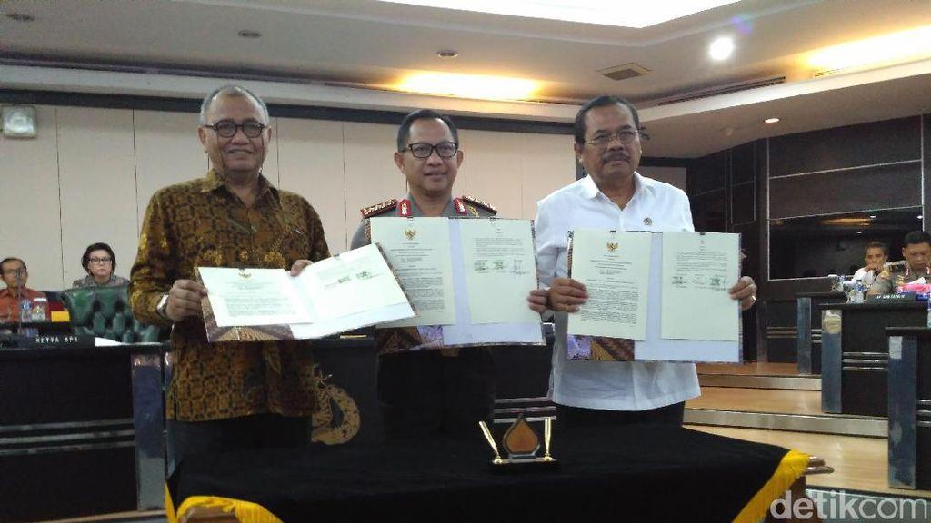 Polri, Kejagung, KPK Teken MoU: Periksa Anggota Harus Kulo Nuwun