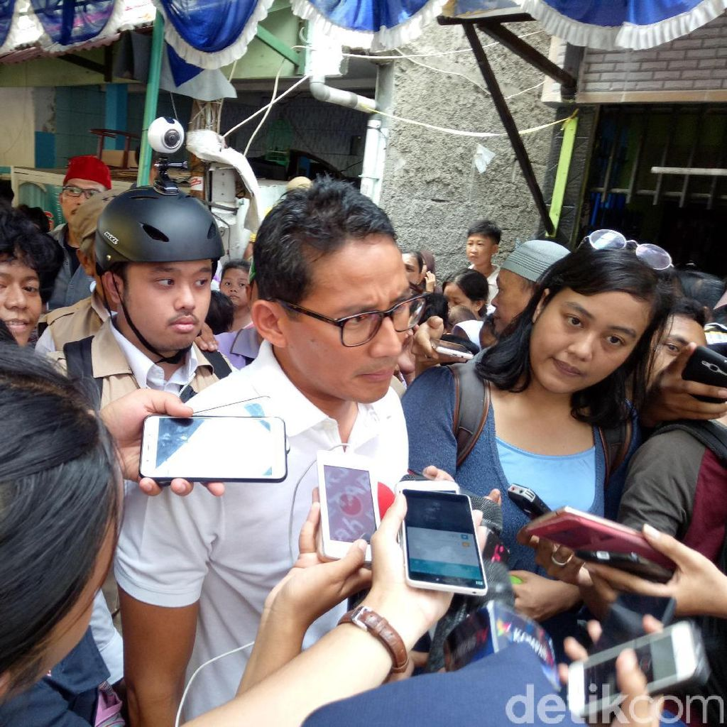 KPU Dapat Honor di Acara Tim Ahok, Sandiaga: Etikanya Nggak Tepat