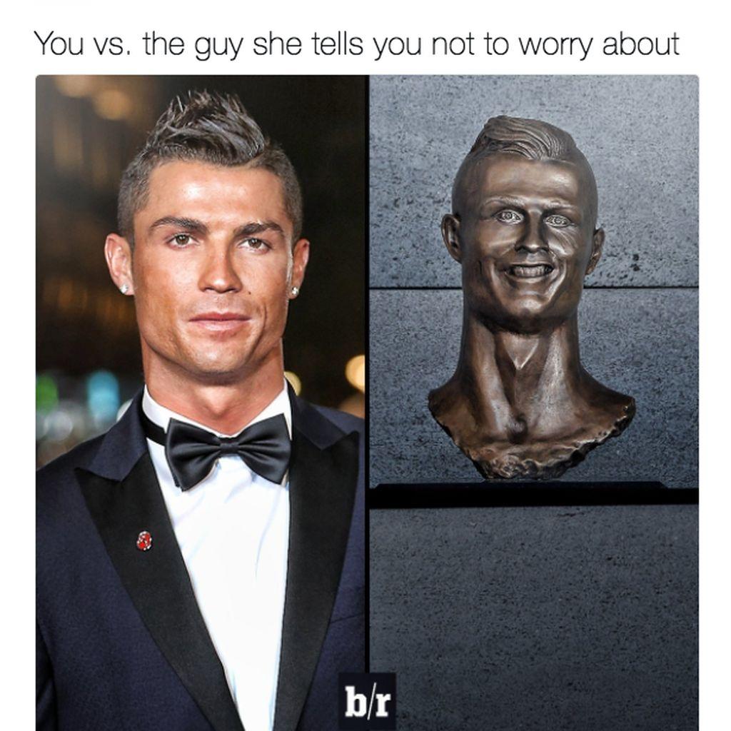 Patung Ronaldo Kok Culun Banget Sih