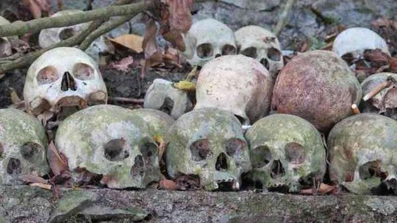 Tengkorak di Kuburan Trunyan (Sastri/detikTravel)