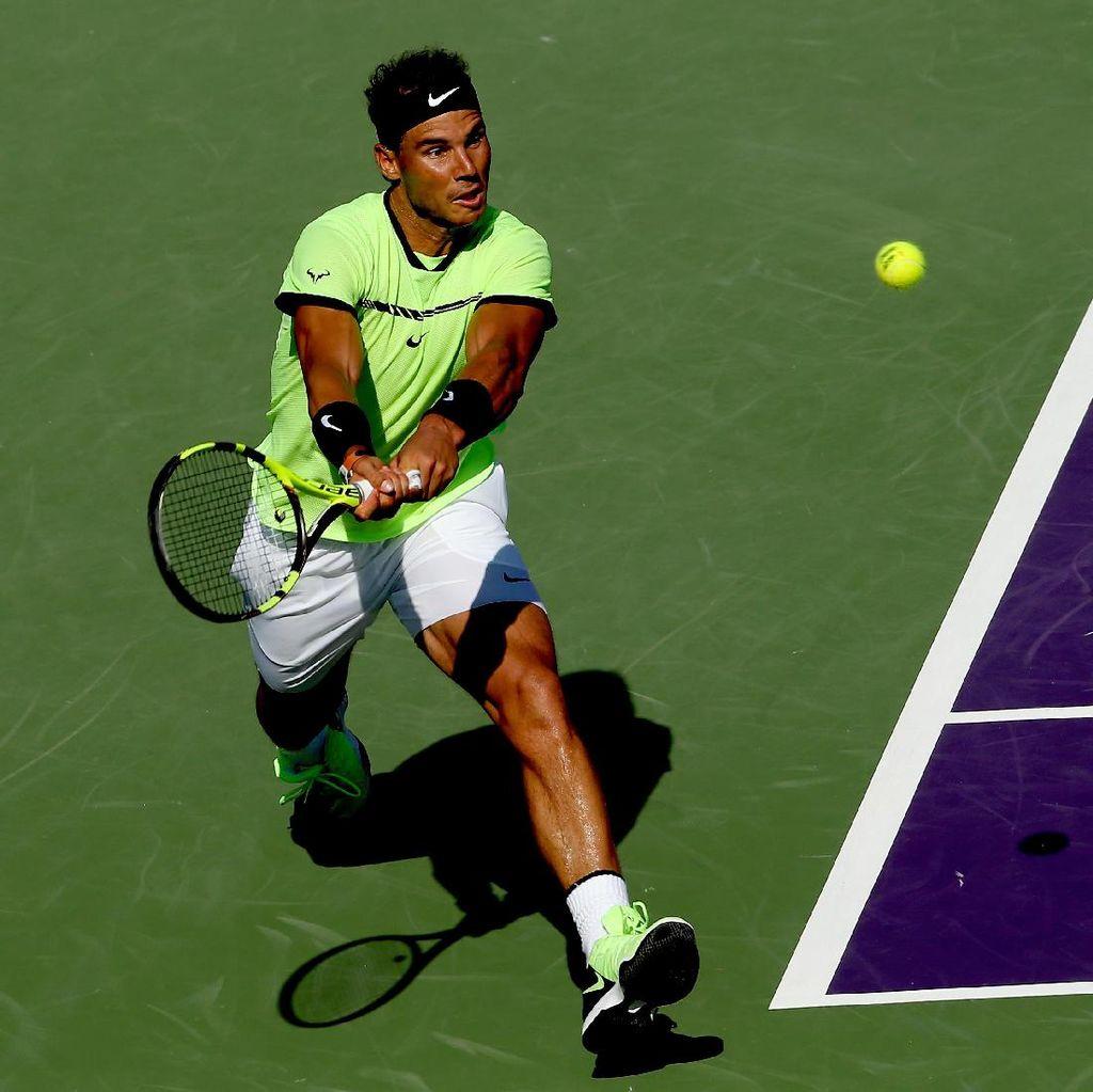 Menang Straight Set, Nadal Melesat ke Semifinal