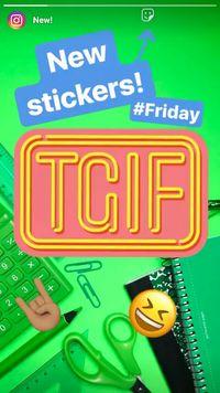 Instagram Punya Sticker Khusus TGIF