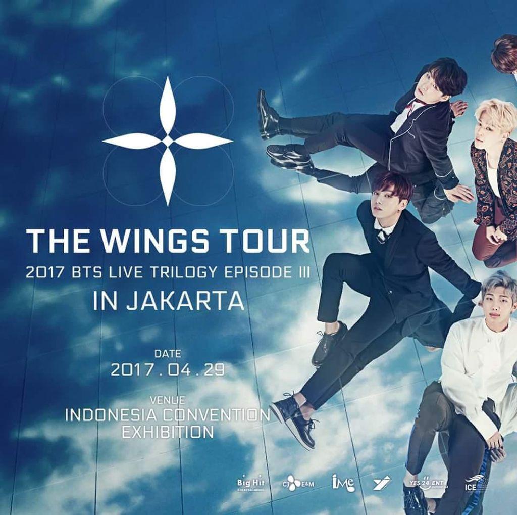 Tiket Konser The Wings Tour in Jakarta Dijual Mulai Rp 1 Juta