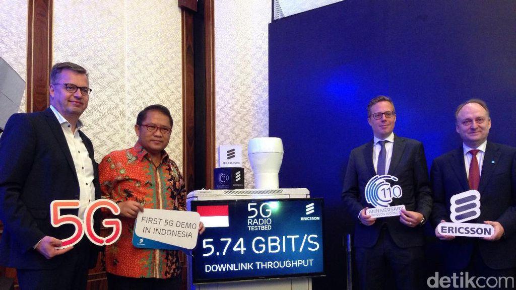 Ultah ke-110 di Indonesia, Ericsson Pamer 5G
