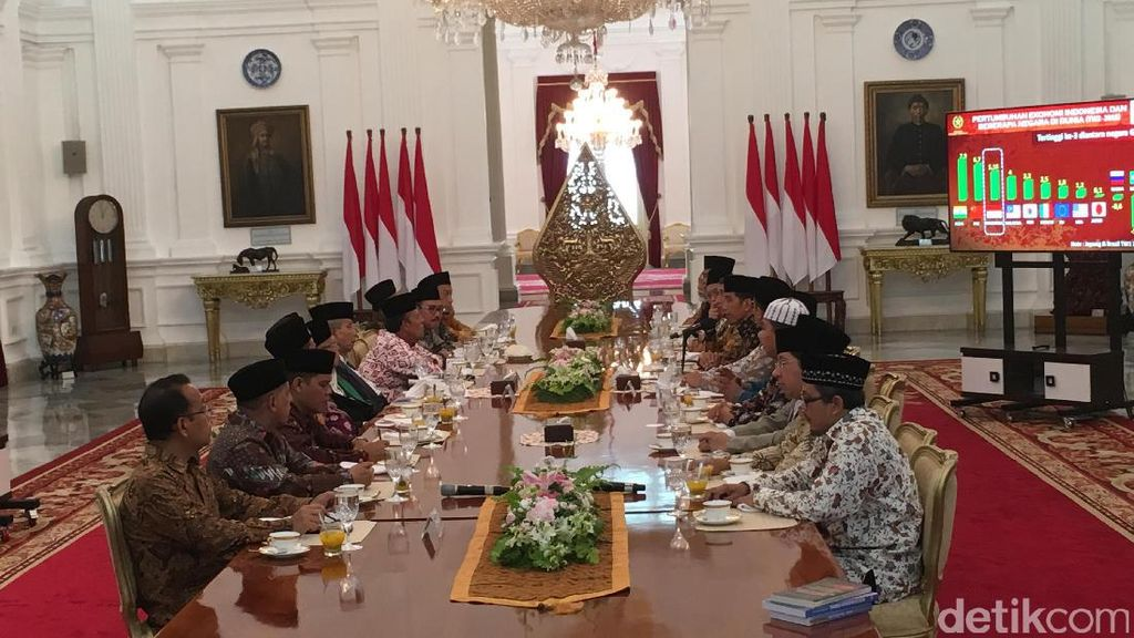 Jokowi Bertemu dengan Para Ulama di Istana