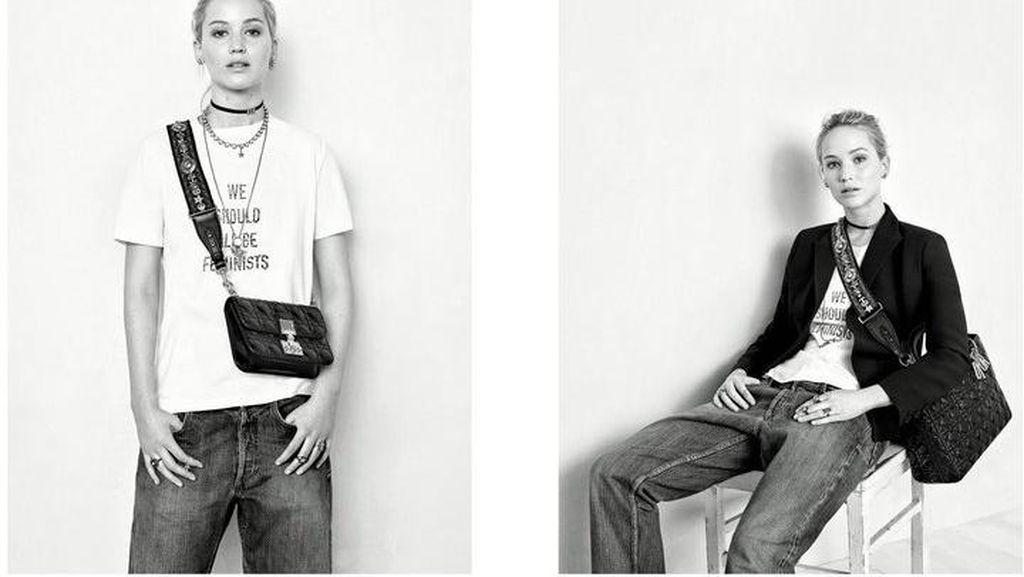 Dipakai Jennifer Lawrence, Baju Feminis Rp 9,5 Juta Ini Habis Terjual