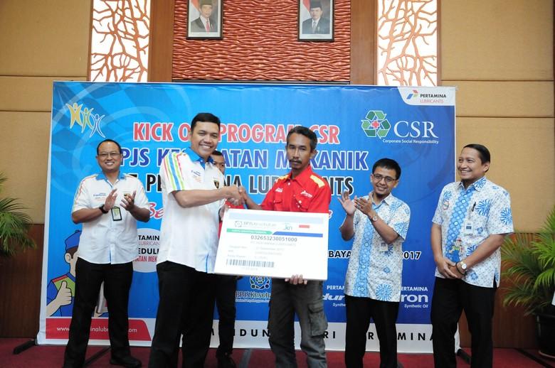 300 Mekanik di Jawa Timur Dapat Jaminan Kesehatan dari Pertamina