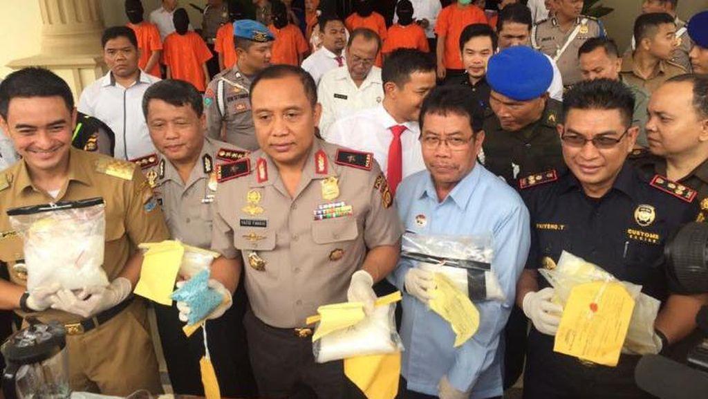 Bea-Cukai Jambi Musnahkan 8,7 Kg Sabu