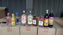 Ribuan Botol Miras Ilegal Disita dari Atap Toko di Malang