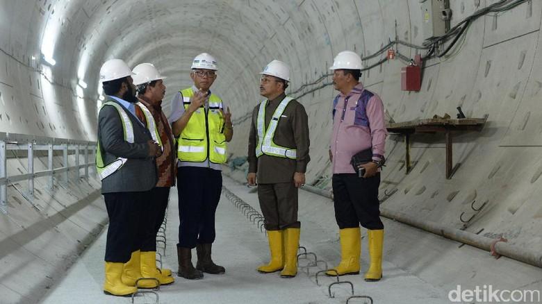 Komisi V DPR Tinjau Proyek MRT Bundaran HI