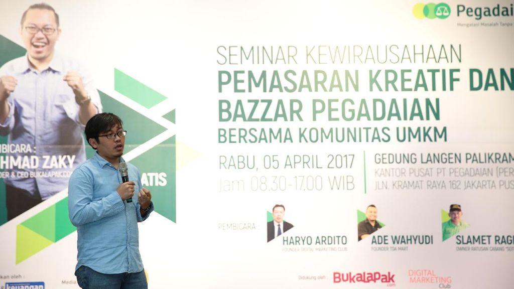 Dukung UMKM, Pegadaian Bikin Pelatihan Digital Marketing