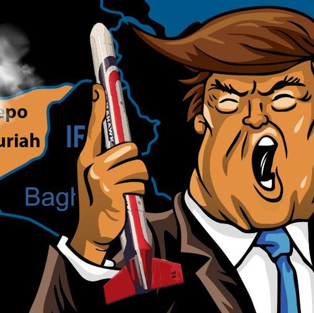 Serangan 59 Rudal AS ke Suriah