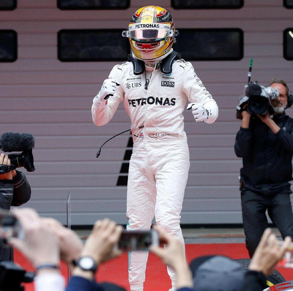 Hamilton Menang, Vettel Kedua, Verstappen Curi Perhatian