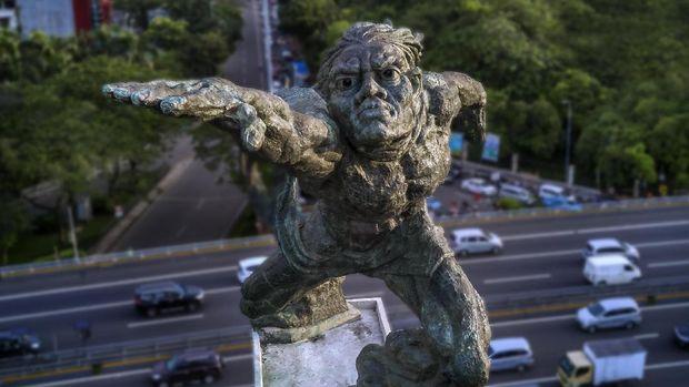 Saat Foto Wajah Patung Pancoran Viral di Medsos