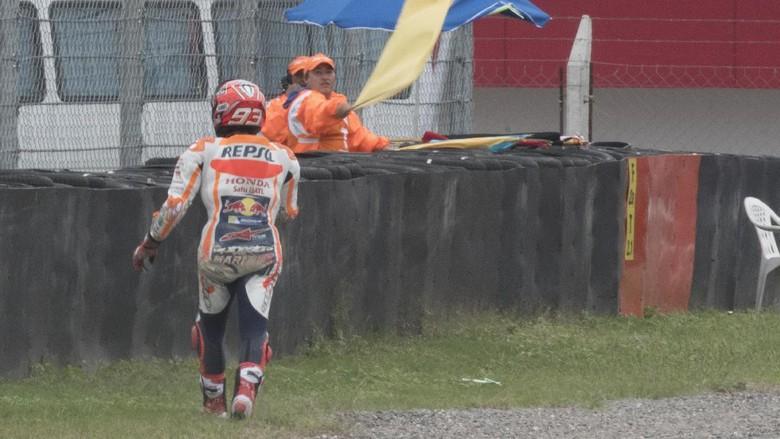 Terjatuh dan Gagal Finis, Marquez: Itu Murni Salah Saya