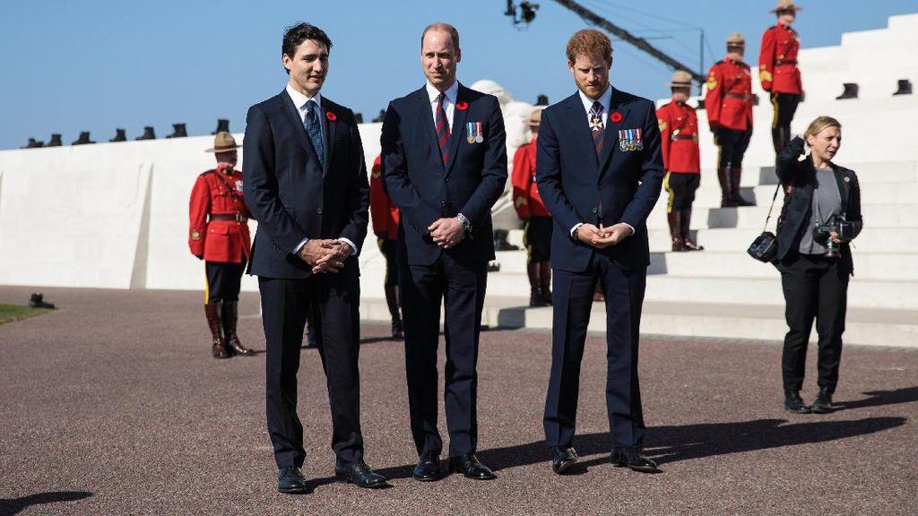 Foto: Trio Seksi Pangeran William, Pangeran Harry & Justin Trudeau