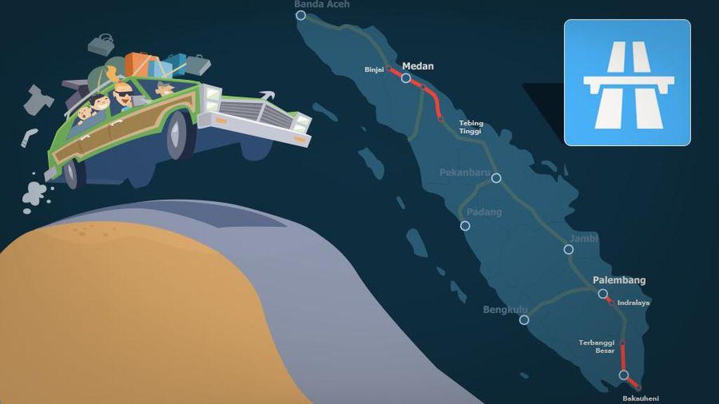 Ini Peta Ruas Tol Trans Sumatera yang Siap Dipakai Mudik