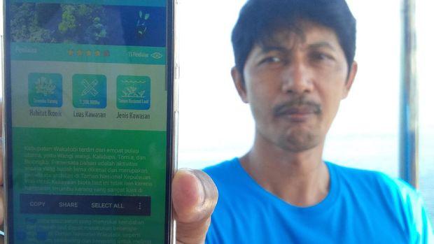 Aplikasi ini bisa memantau kawasan konservasi Wakatobi (Mukhlis/detikTravel)