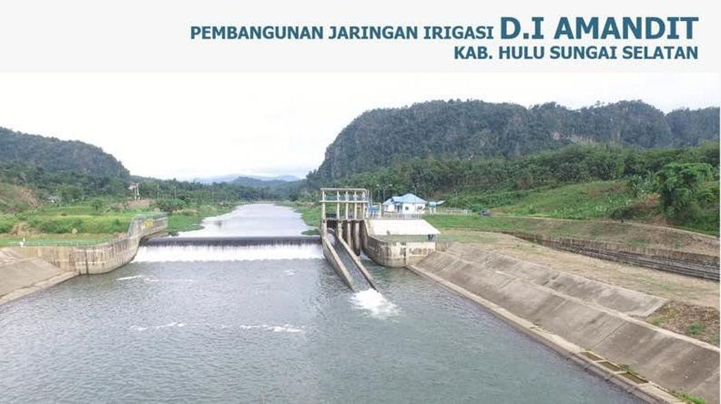 Begini Perkembangan Bendungan Tapin di Kalimantan