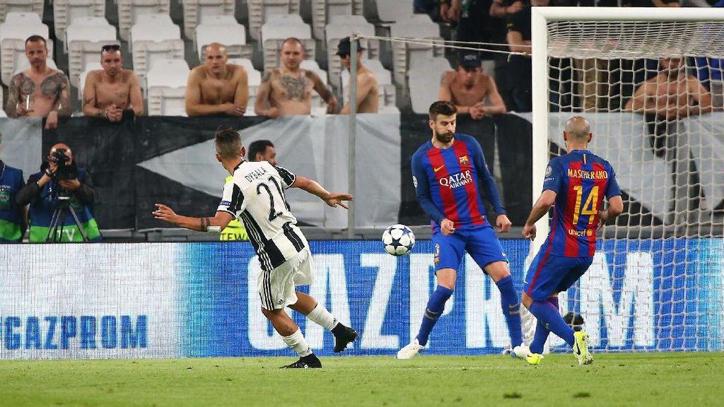 Juventus Manfaatkan Celah di Antara Gelandang dan Bek Barcelona