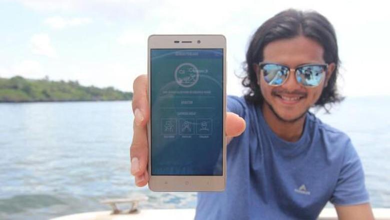 Ramon Tungka dan aplikasi Marine Buddies (Mukhlis/detikTravel)