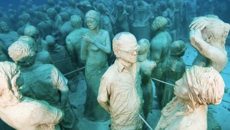 Foto: Koleksi patung di Atlantic Museum (Jason deCaires Taylor/CNN)