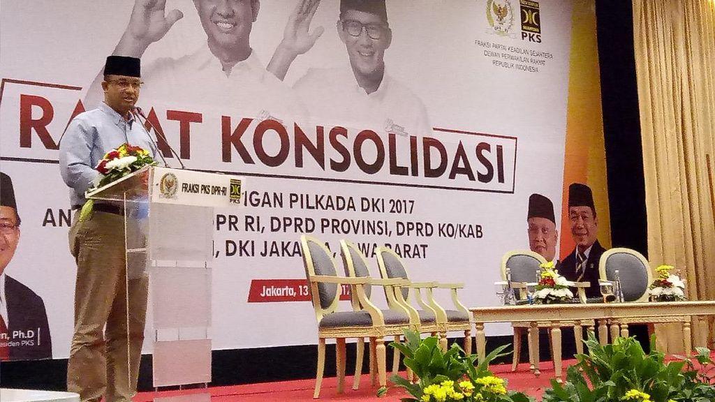 Di Depan Kader PKS, Anies: Kita Harus All Out 1 Minggu ke Depan