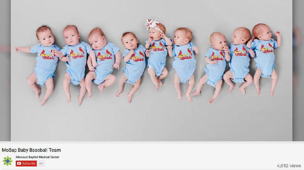 Menggemaskan! Ketika 3 Pasang Bayi Kembar Tiga Dipotret Bersama