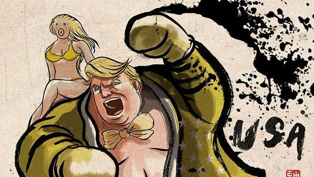 Ketika Donald Trump cs Jadi Petarung Street Fighter