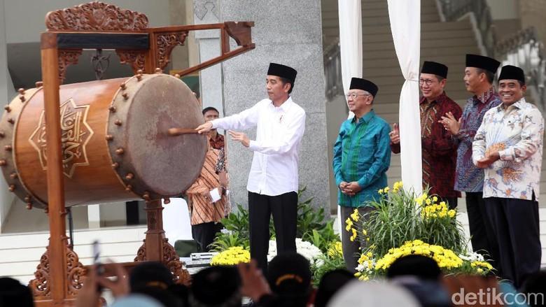 Jokowi Resmikan Masjid Raya KH Hasyim Asyari