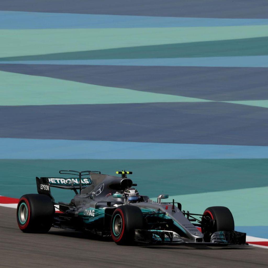 Bottas Rebut Pole, Mercedes Start 1-2