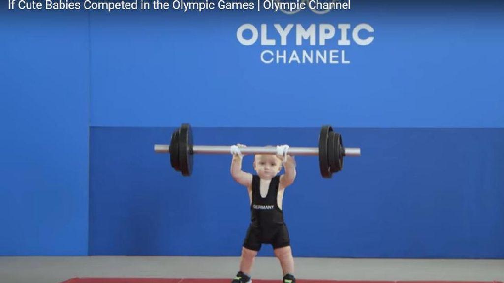 Viral! Video Lucu Balita Ikut Olimpiade