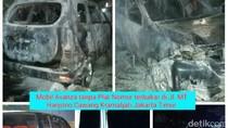 Labfor Cium Bau Bensin di Mobil yang Terbakar di Cawang