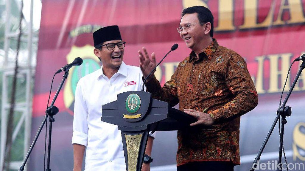 Didukung Sandiaga Jadi Menteri, Ahok Tersenyum