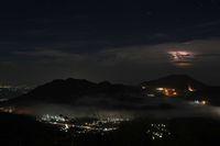 Panorama pagi dari puncak Prau