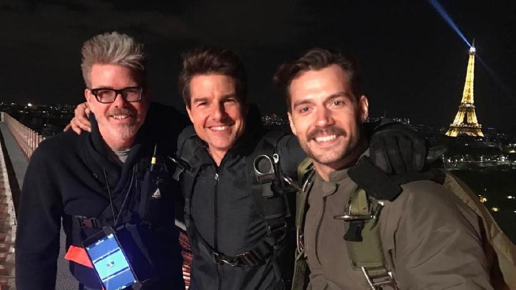 Penampakan Henry Cavill Syuting Mission Impossible