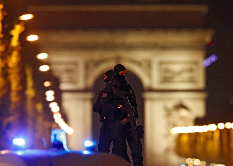 Penembak di Champs Elysees Dinilai Tak Tunjukkan Sikap Radikal