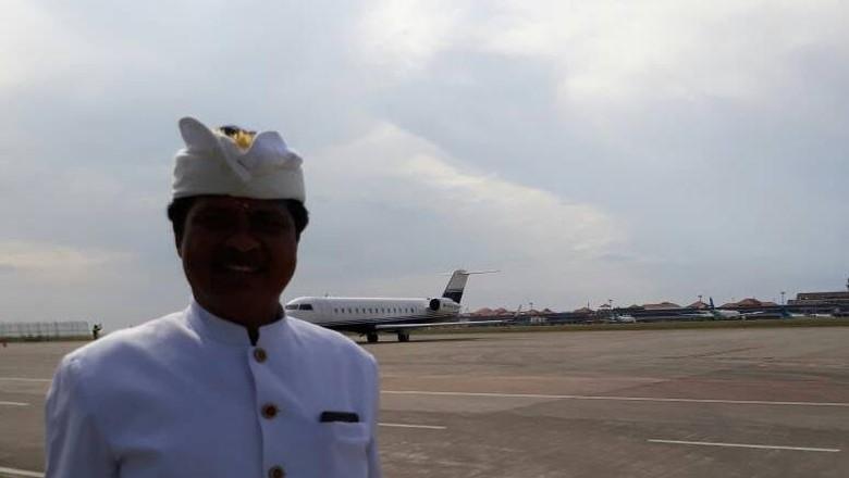 Pesawat Jet Milik Setya Novanto Diupacarakan Secara Hindu di Bali