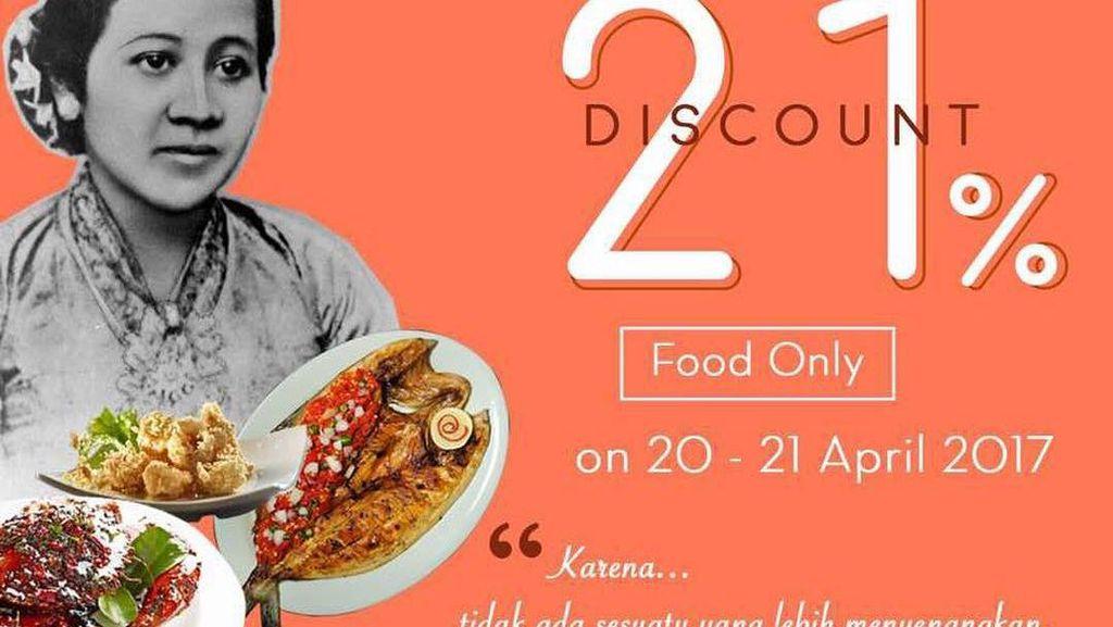 Meriahkan Hari Kartini, Ada Harga Spesial hingga Diskon 21% di 7 Resto Ini