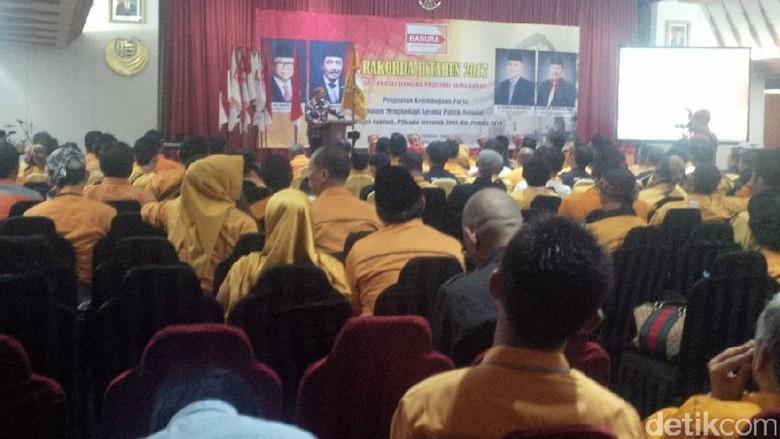 Datang ke Rakorda Hanura Jabar, Ridwan Kamil Minta Dukungan