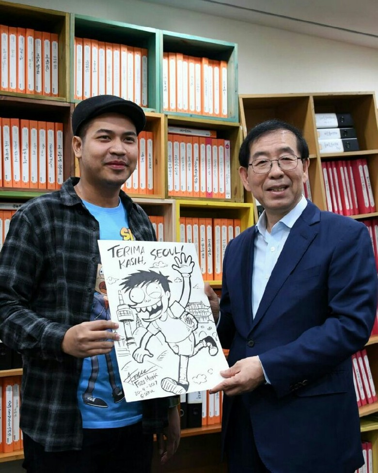 Komikus Faza Meonk Dinobatkan Jadi Duta Pariwisata Seoul