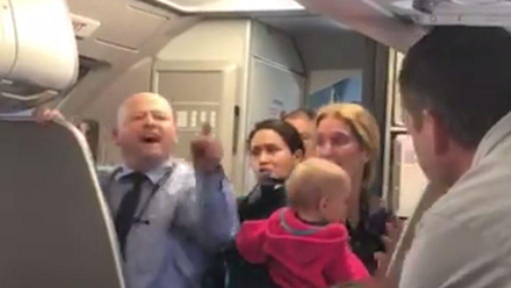 Heboh di Medsos, Pramugara American Airlines Kasari Ibu dan Bayinya