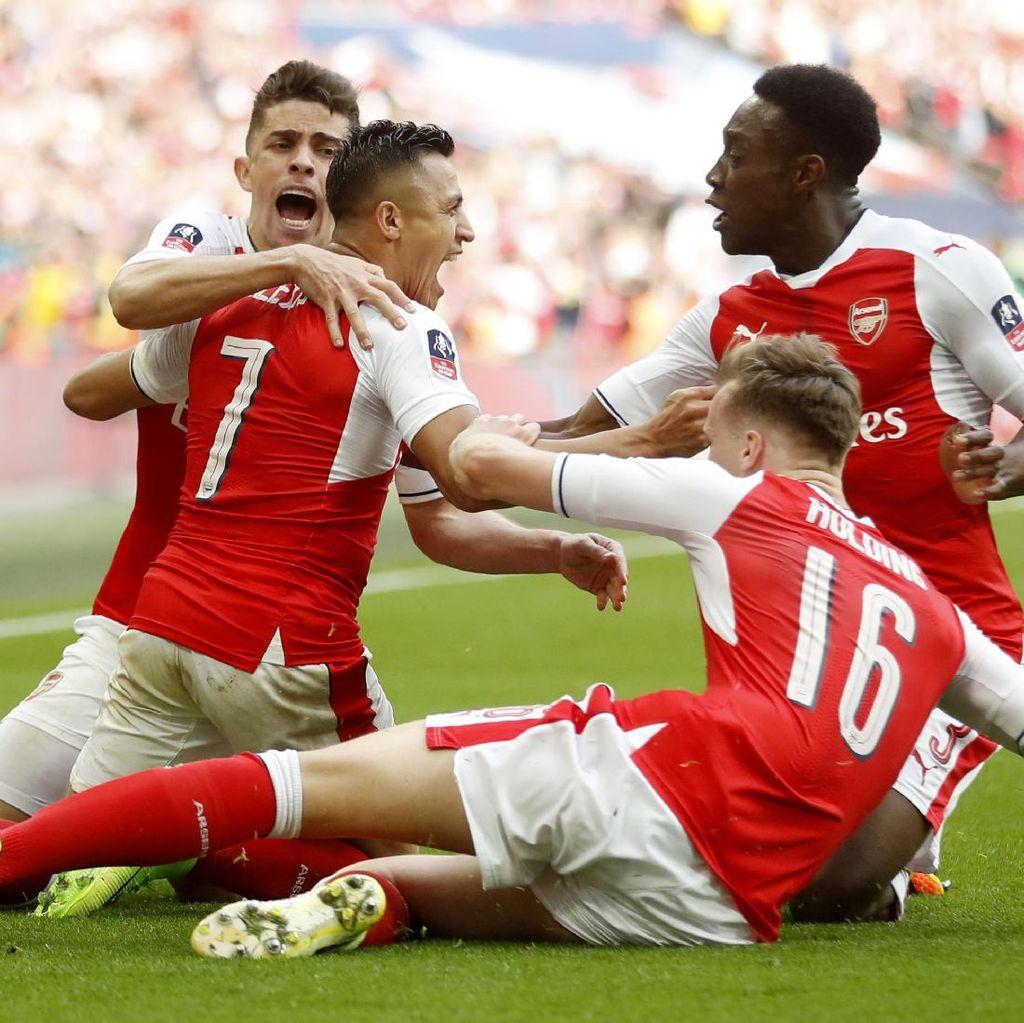Kalahkan City lewat Extra Time, Arsenal Lolos ke Final