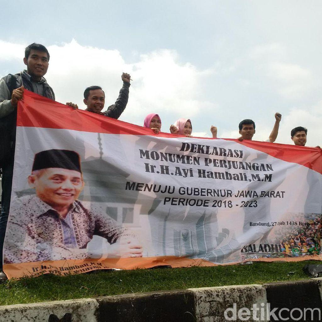Relawan Deklarasikan Anggota DPD RI Ayi Hambali Maju Pilgub Jabar