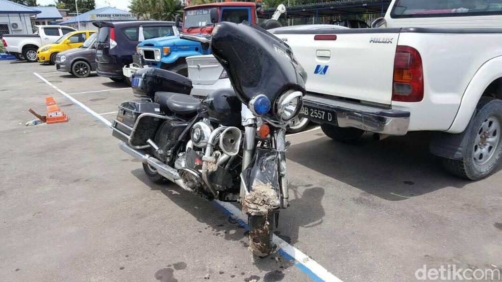 Foto-foto Kerusakan Moge Bambang, WNI yang Kecelakaan di Sabah