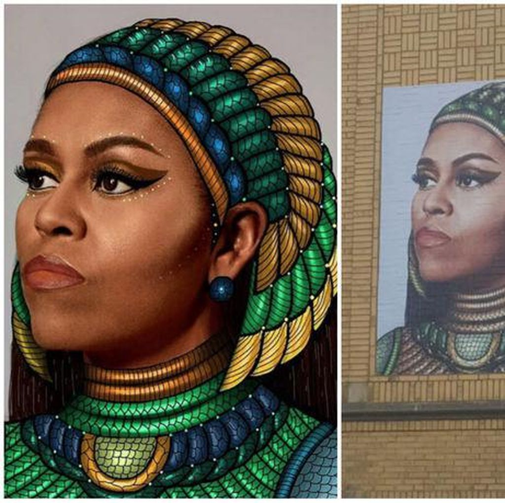 Mural Michelle Obama di Chicago Picu Kontroversi