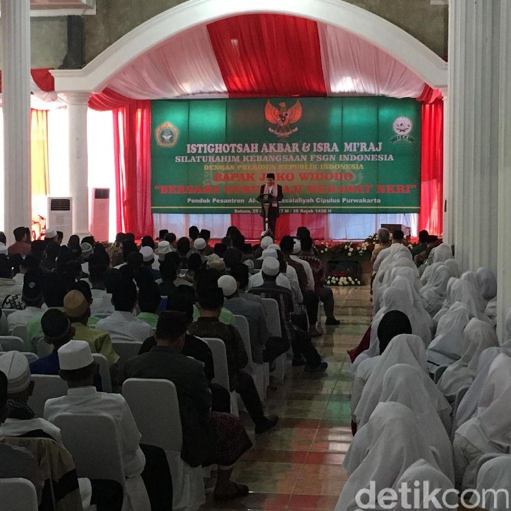 Jokowi Ungkap Alasan Peringati Isra Mikraj di Luar Istana